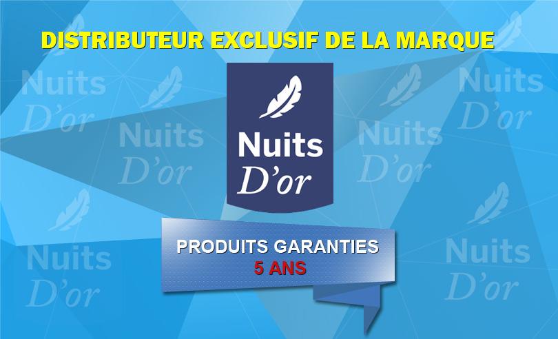 Distributeur exclusif de la marque Nuits d'or